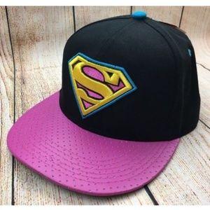 New Superman Snapback Embroidered Hat, DC Comics